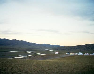 Yurts Photograph - Yurts In The Orkhon Valley Of Karakorum Mongolia by Andrew Rowat
