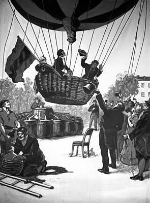 Zakharov's Balloon Flight, 1804 Print by Ria Novosti