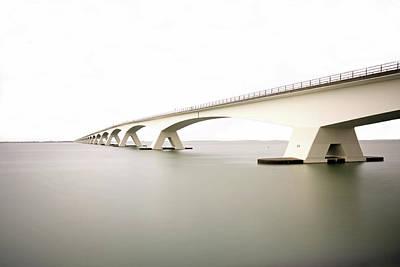 Zeeland Photograph - Zeeland Bridge by Chris Van Dolleweerd