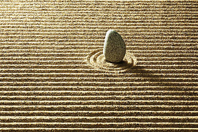 Y120817 Photograph - Zen Stone On Sand by Yuji Sakai
