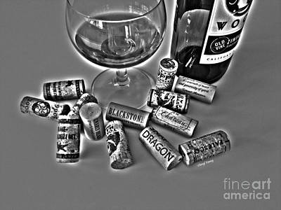 Zin Black And White Print by Cheryl Young