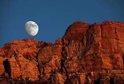 Zion Moonrise Print by David Yunker