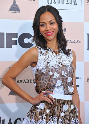 Statement Ring Photograph - Zoe Saldana Wearing A Dolce & Gabbana by Everett