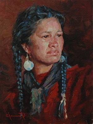 Black Hills Painting - Zola by Jim Clements