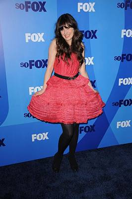 Full Skirt Photograph - Zooey Deschanel At Arrivals For Fox by Everett