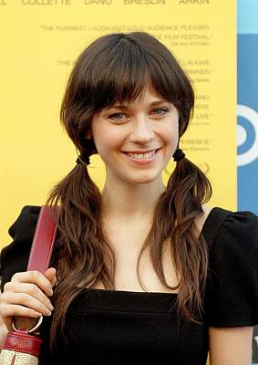 Zooey Deschanel Photograph - Zooey Deschanel At Arrivals For Little by Everett