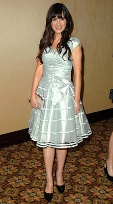 Full Skirt Photograph - Zooey Deschanel In Attendance by Everett