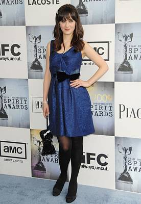 Zooey Deschanel Photograph - Zooey Deschanel Wearing A Lela Rose by Everett