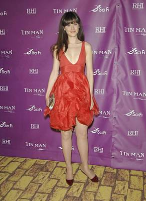 Zooey Deschanel Photograph - Zooey Deschanel Wearing A Zac Posen by Everett
