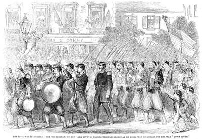 Zouaves Marching, 1861 Print by Granger