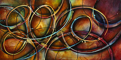 Abstract Movement Painting -  ' Dizzy ' by Michael Lang