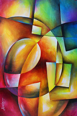 Shards Painting -  ' Evolution 2 ' by Michael Lang