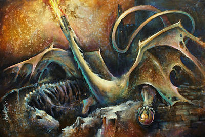 Dungeon Painting -  ' Guardian ' by Michael Lang