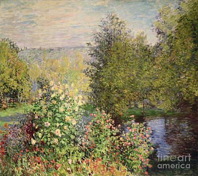 A Corner Of The Garden At Montgeron Print by Celestial Images