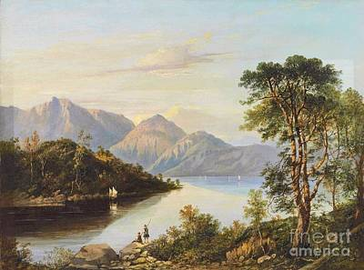 A Summer Evening Painting -  A Highland Loch Landscape by Charlotte Nasmyth