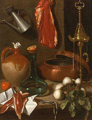 Carlo Magini Painting - A Kitchen Still Life by Carlo Magini