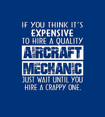 Aircraft Mechanic Print by Sophia