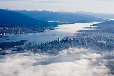 An Aerial View Of Vancouver Print by Taylor S. Kennedy