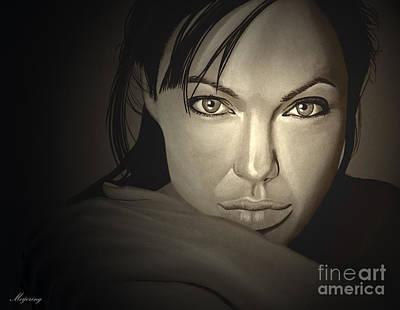 Angelina Jolie Print by Meijering Manupix
