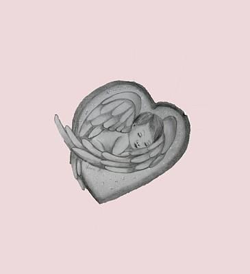 Baby Angel Drawing -  Baby Angel by Vesna Martinjak