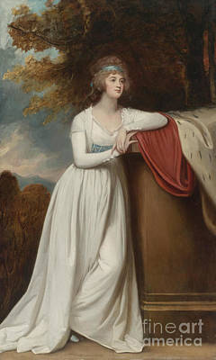 Romney Painting -  Barbara Marchioness Of Donegall by George Romney