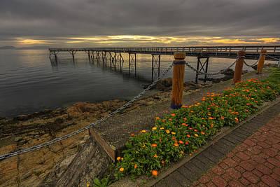 Bevan Fishing Pier - Sydney Bc Print by Mark Kiver