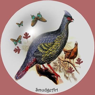 Pheasant Digital Art -  Blood Pheasant by Madeline  Allen - SmudgeArt