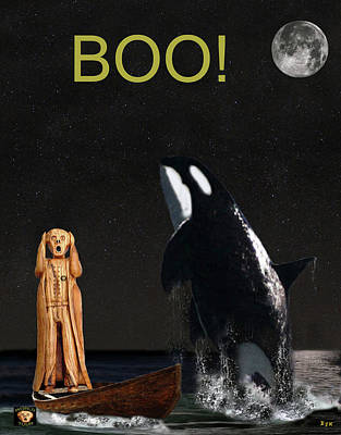 Orca Mixed Media -  Boo Scream With Orca by Eric Kempson