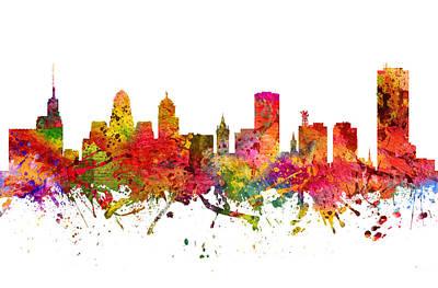 Buffalo Drawing -  Buffalo Cityscape 08 by Aged Pixel
