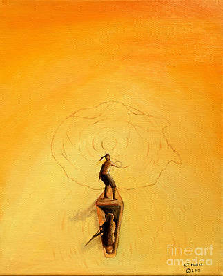 Painting -  Casting For Fish. by Fine art Photographs