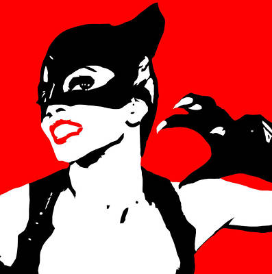 Christian Artwork Digital Art -  Catwoman by Elena Kosvincheva