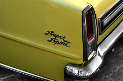 Transportation Photograph -  Chevrolet Nova S S  V2 by John Straton