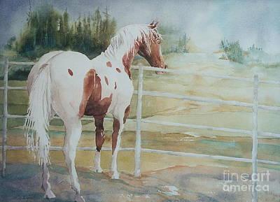 Maryann Painting -  Contemplating Freedom by Maryann Schigur