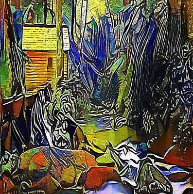 Creek In The Woods - My Www Vikinek-art.com Print by Viktor Lebeda