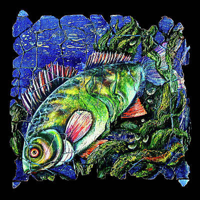 Largemouth Mixed Media -  Dear Lord  Please Let Me Catch A Fish by OLenaArt Lena Owens