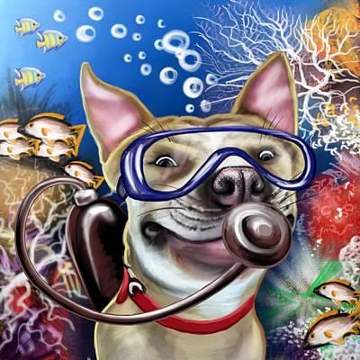 Diver Pub Dog Original by Photolamus OU