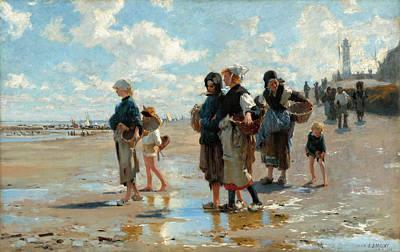En Route Painting -  En Route Pour La Peche Setting Out To Fish by John Singer Sargent