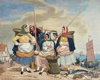 Fish Market By The Sea Ca Print by Richard Dadd