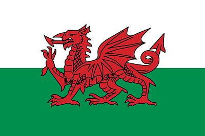 Wales Painting -  Flag Of Wales by Unknown