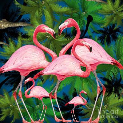 Flamingo Digital Art -  Flamingo by Mark Ashkenazi