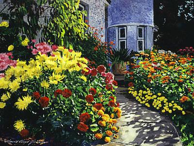 Garden Shadows Print by David Lloyd Glover