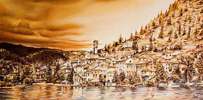 Golden Reflections Print by Michel Angelo Rossi