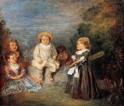 Antoine Watteau Painting - Happy Age. Golden Age by Antoine Watteau