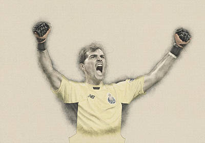Wayne Rooney Digital Art -  Iker Casillas  by Don Kuing