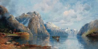 Adolf Painting -  In The Hardanger Fjord by Celestial Images