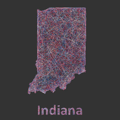Indiana Map Print by David Zydd