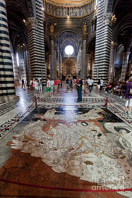 Europe Photograph -  Interior Of Siena Cathedral, Italian Duomo Di Siena With Mosaic Floor by Michal Bednarek