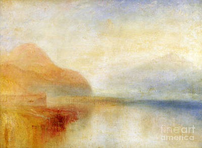Abstract Seascape Painting -  Inverary Pier - Loch Fyne - Morning by Joseph Mallord William Turner