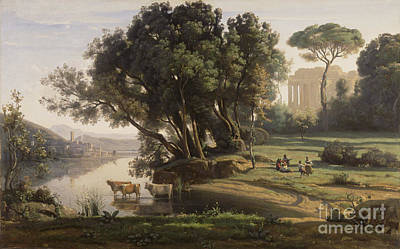 Italian Landscape Painting -  Italian Landscape by Celestial Images