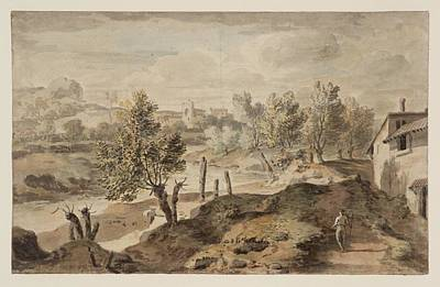 Italian Landscape Painting -  Italian Landscape by William Taverner